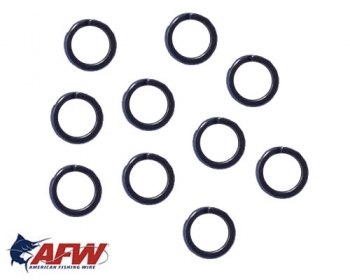 AFW Mighty Mini Split Rings Gr. 7 90 kg Black / ab 10 St.