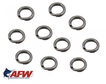 AFW Mighty Mini Split Rings Gr. 6 55 kg Black / ab 10 St.