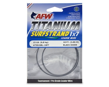 AFW Titanium Surfstrand 1x7 Leader Wire 20 lbs 3,05 m