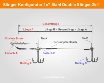 Konfigurator 1x7 Stahl JBC Double Stinger 2in1